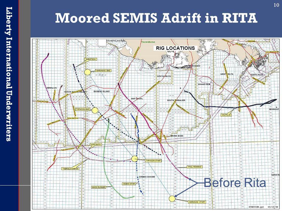 Moored SEMIS Adrift in RITA