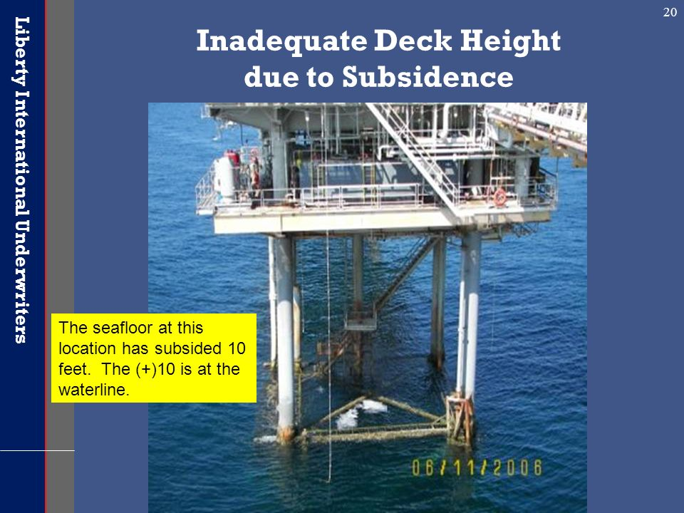 Inadequate Deck Height due to Subsidence
