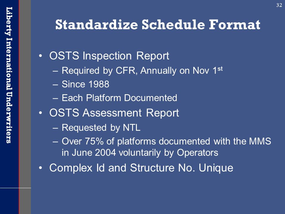 Standardize Schedule Format