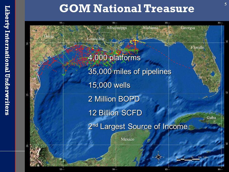 GOM National Treasure 4,000 platforms 35,000 miles of pipelines