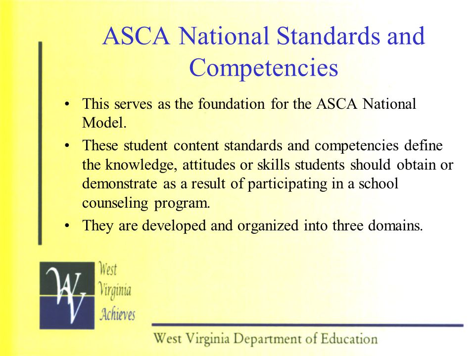 ASCA National Standards and Competencies