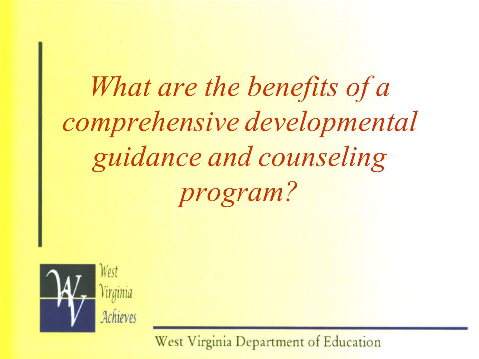 What are the benefits of a comprehensive developmental guidance and counseling program