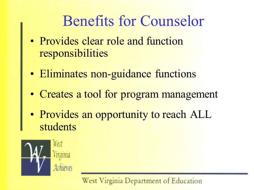 Benefits for Counselor