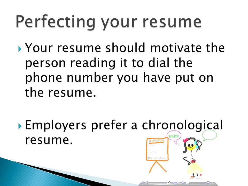 Perfecting your resume