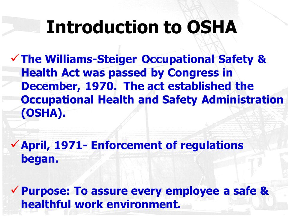 "The Importance of Occupational Safety and Health: Making for a ""Super"" Workplace"