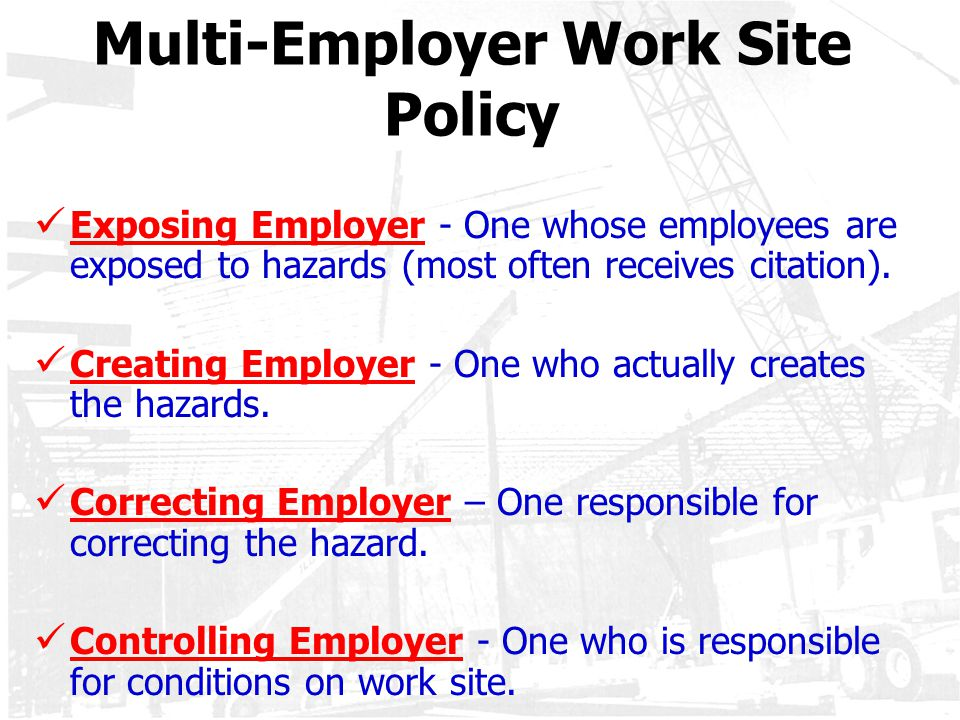Multi-Employer Work Site Policy
