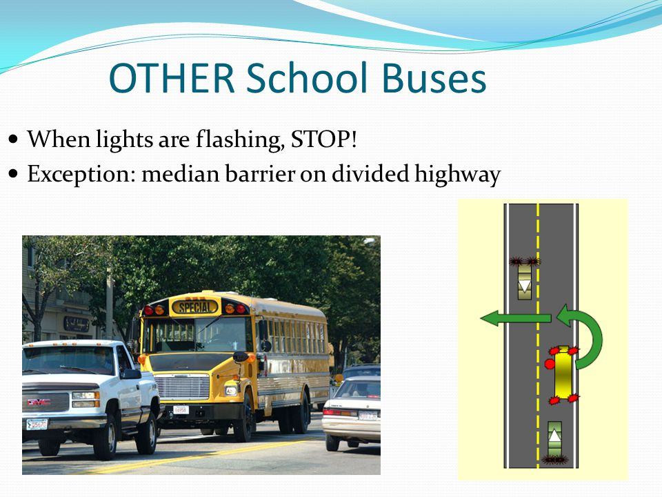 OTHER School Buses When lights are flashing, STOP!