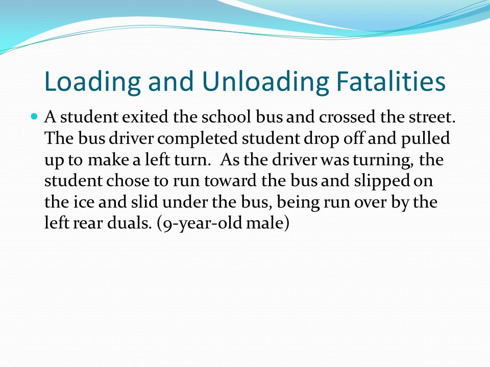 Loading and Unloading Fatalities
