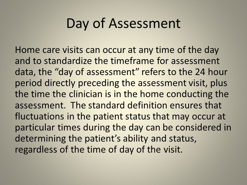 Day of Assessment