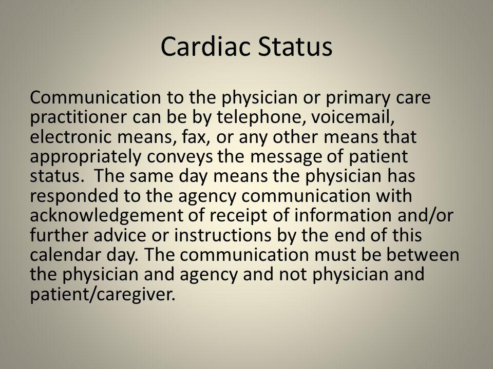 Cardiac Status