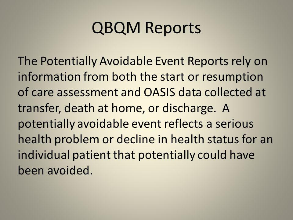 QBQM Reports