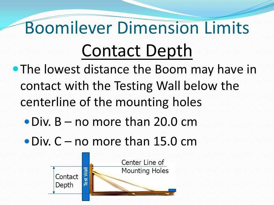 Boomilever Dimension Limits Contact Depth