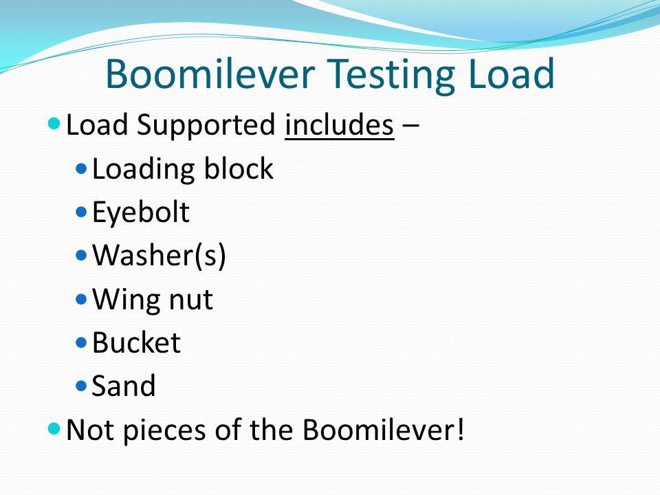 Boomilever Testing Load