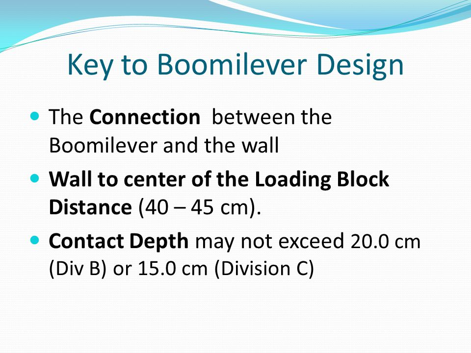 Key to Boomilever Design