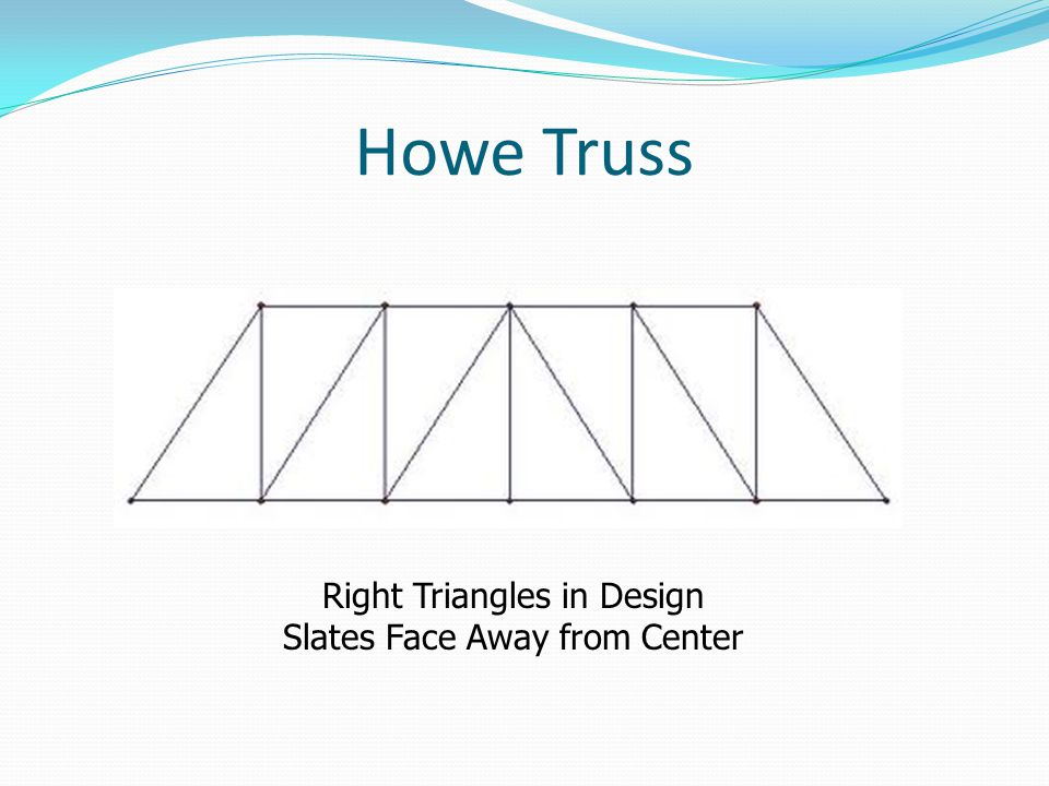 Howe Truss Right Triangles in Design Slates Face Away from Center