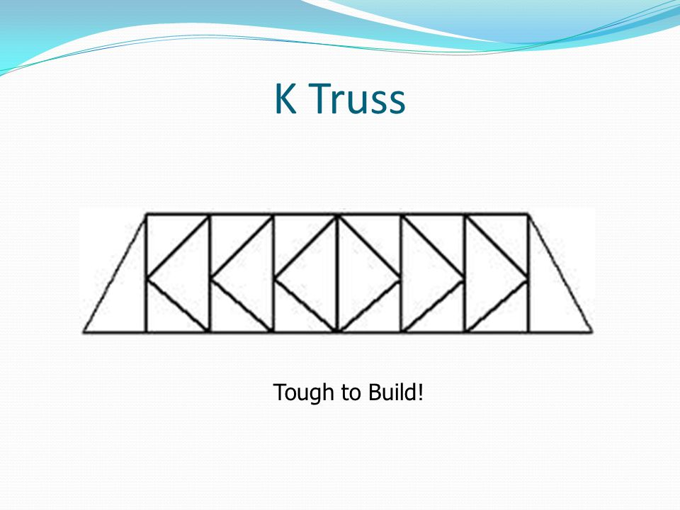 K Truss Tough to Build!