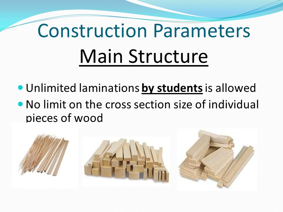 Construction Parameters Main Structure