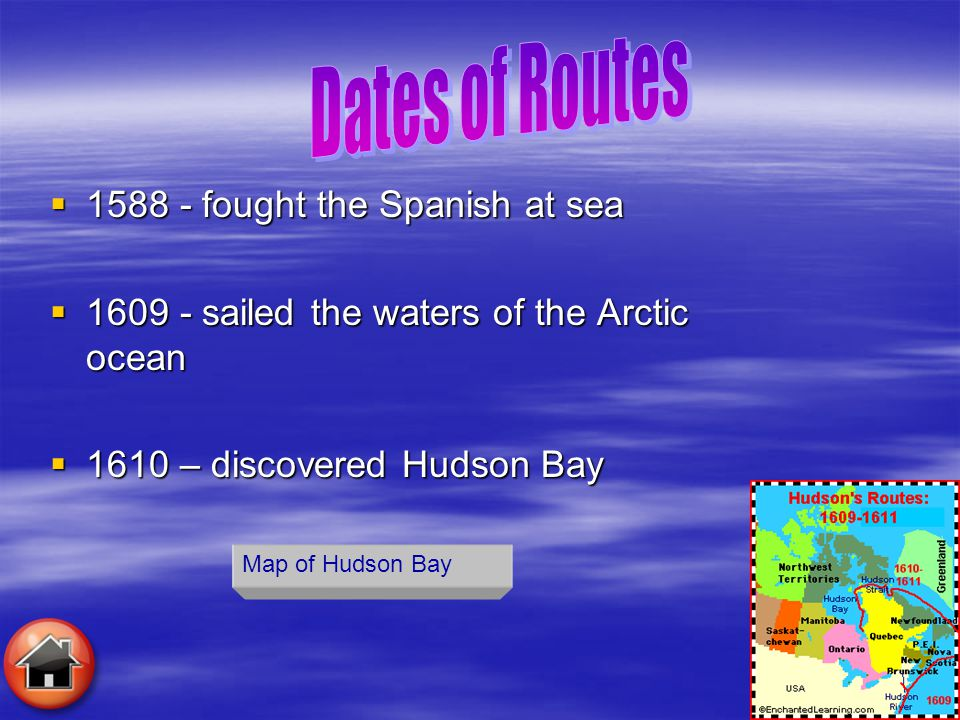 Dates of Routes 1588 - fought the Spanish at sea