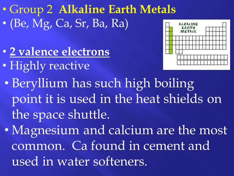 Group 2 Alkaline Earth Metals