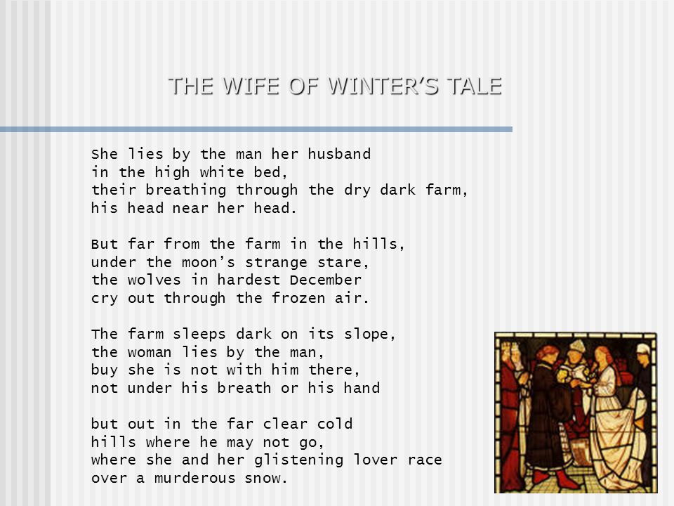 THE WIFE OF WINTER'S TALE