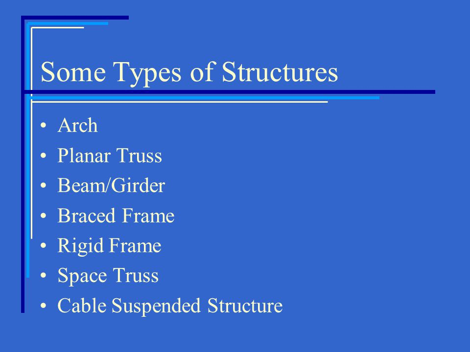 Some Types of Structures