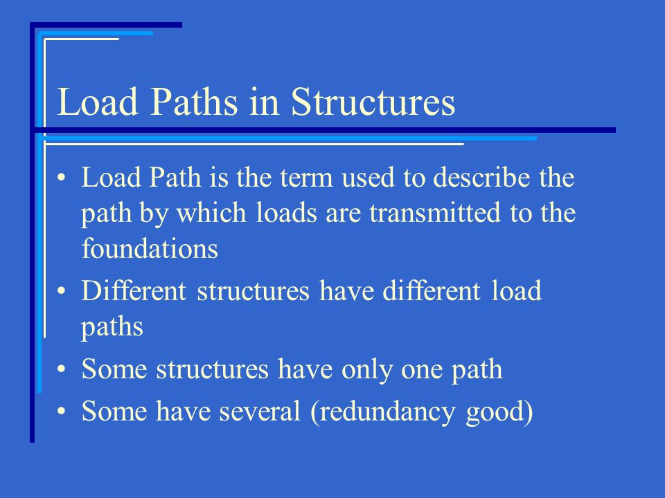 Load Paths in Structures