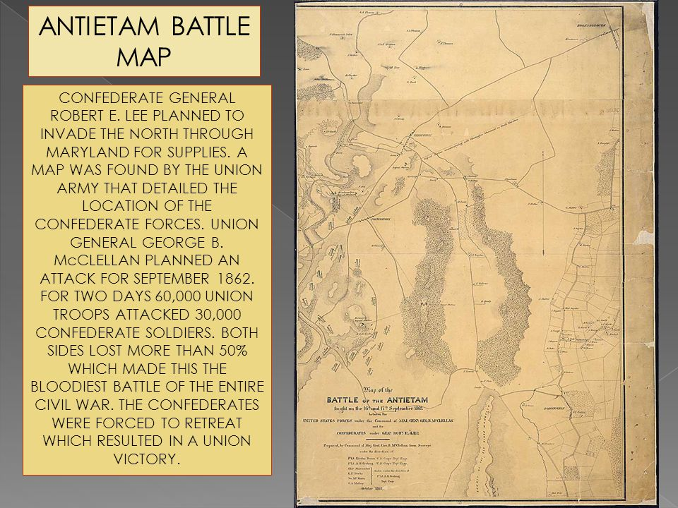 ANTIETAM BATTLE MAP