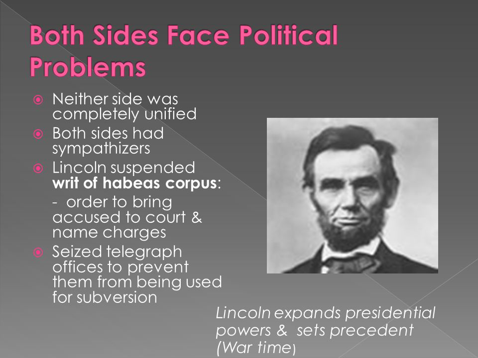 Both Sides Face Political Problems