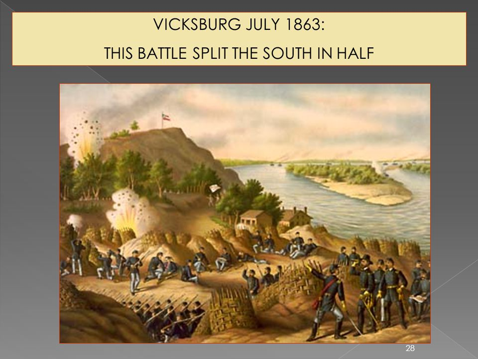 THIS BATTLE SPLIT THE SOUTH IN HALF