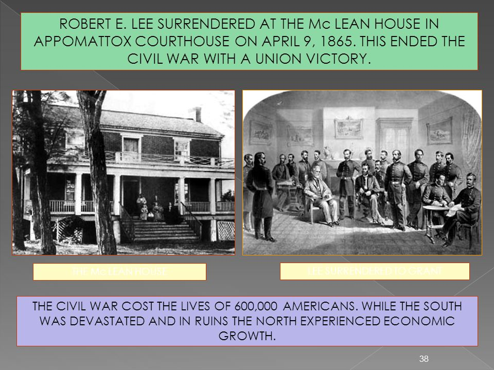 LEE SURRENDERED TO GRANT