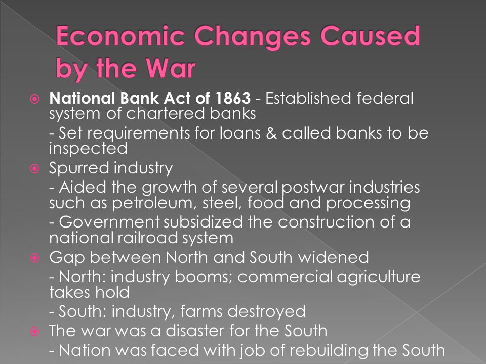Economic Changes Caused by the War