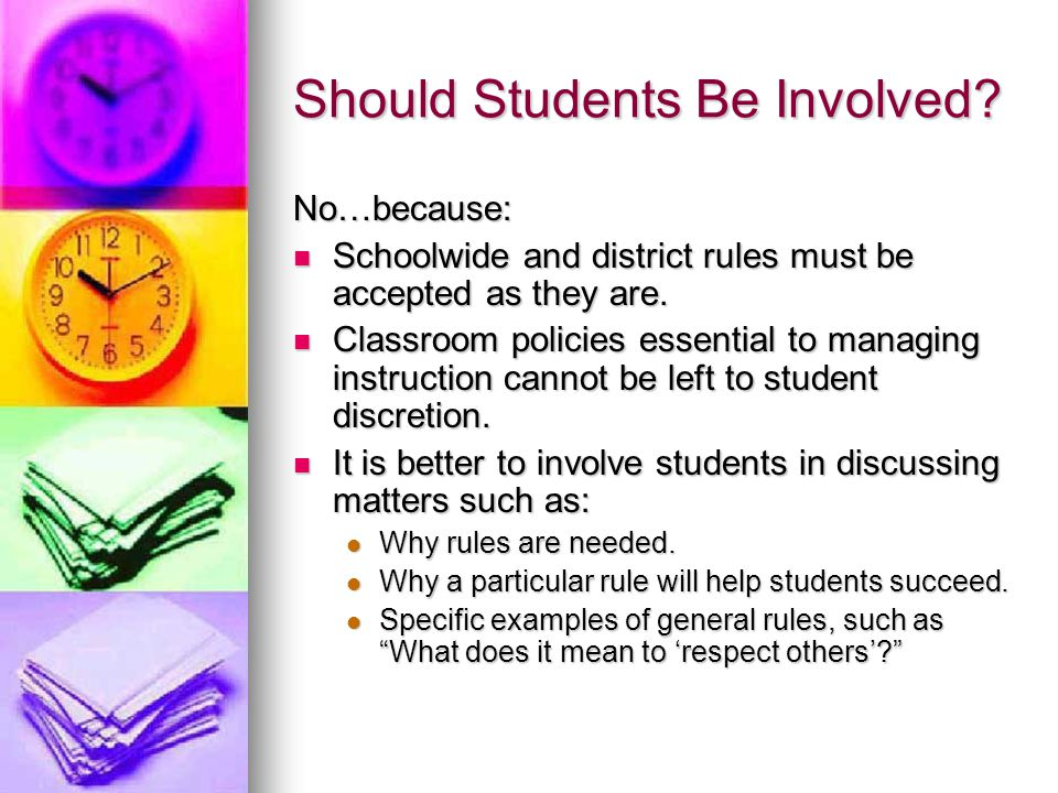 Should Students Be Involved