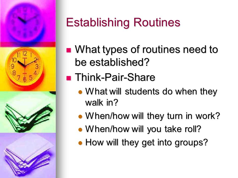 Establishing Routines