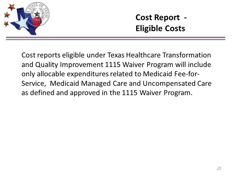 Cost Report - Eligible Costs