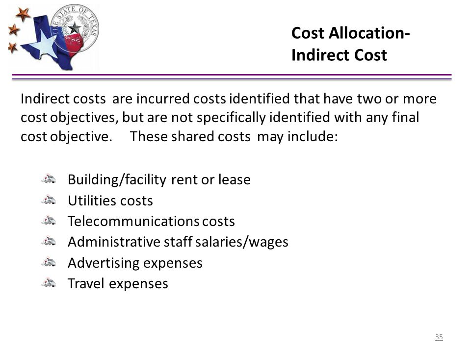 Cost Allocation- Indirect Cost