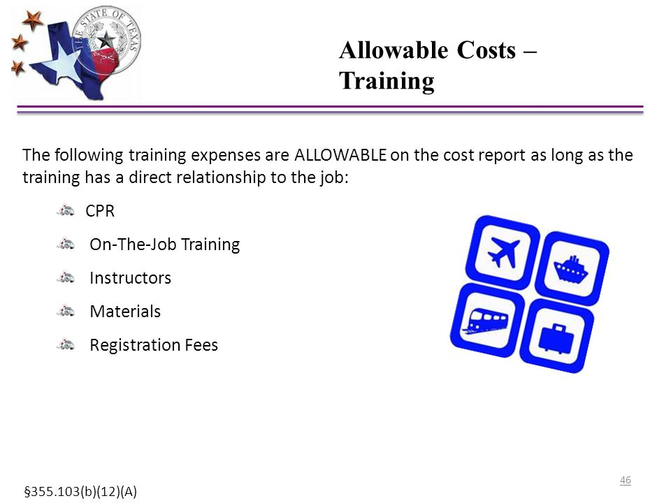 Allowable Costs – Training