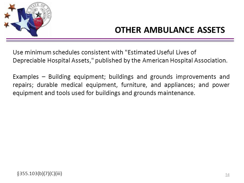OTHER AMBULANCE ASSETS