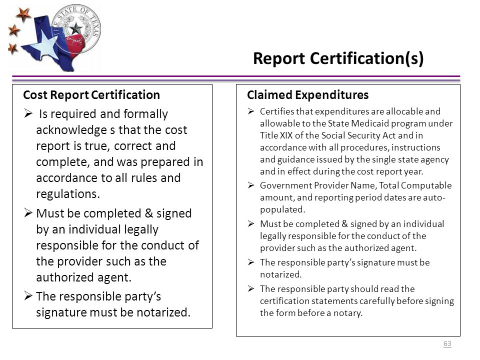 Report Certification(s)