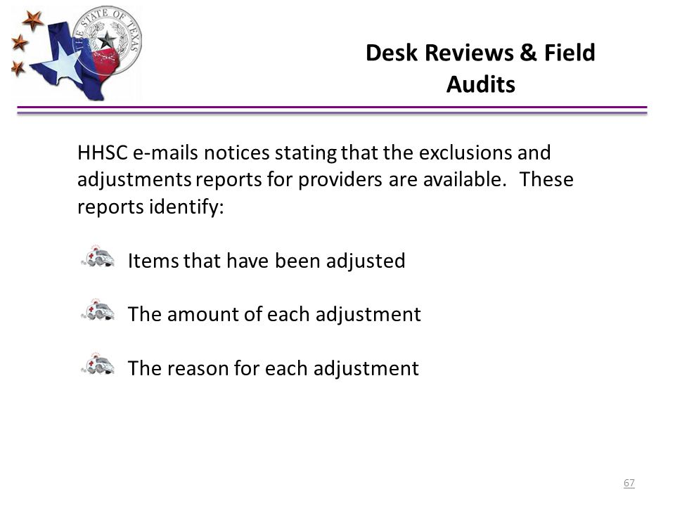 Desk Reviews & Field Audits