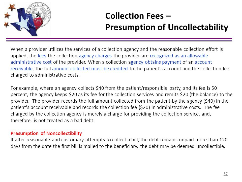 Presumption of Uncollectability