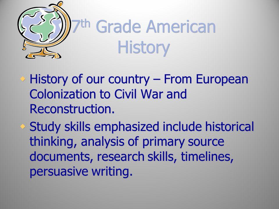 7th Grade American History