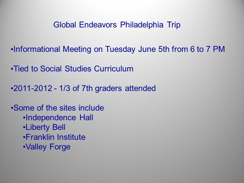 Global Endeavors Philadelphia Trip