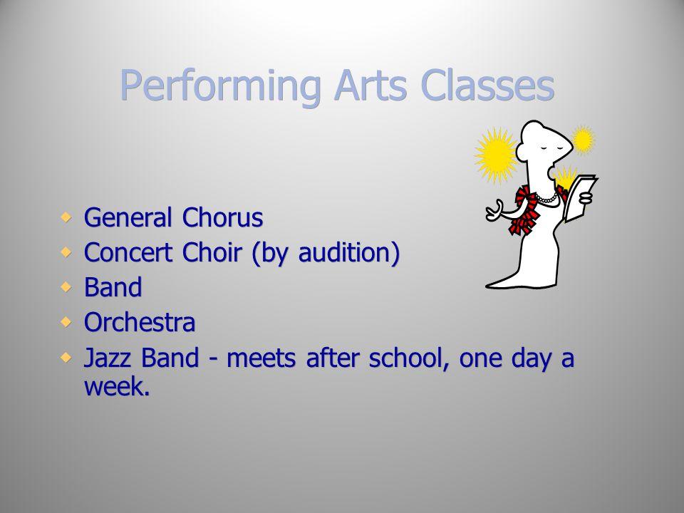 Performing Arts Classes