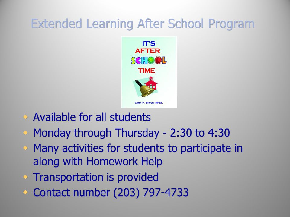 Extended Learning After School Program