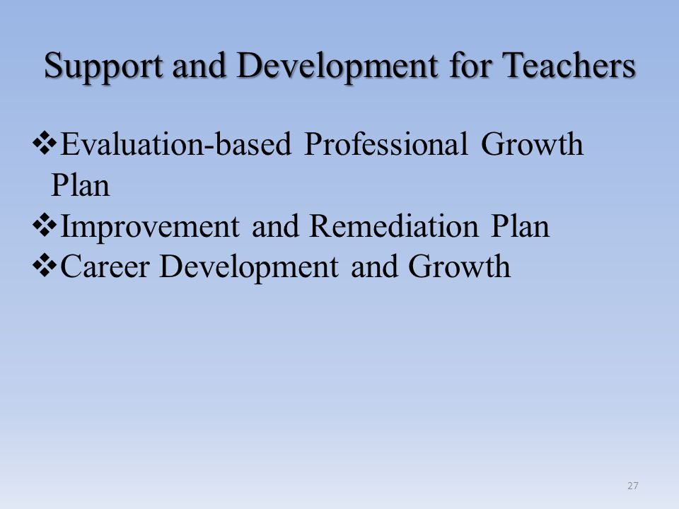 Support and Development for Teachers