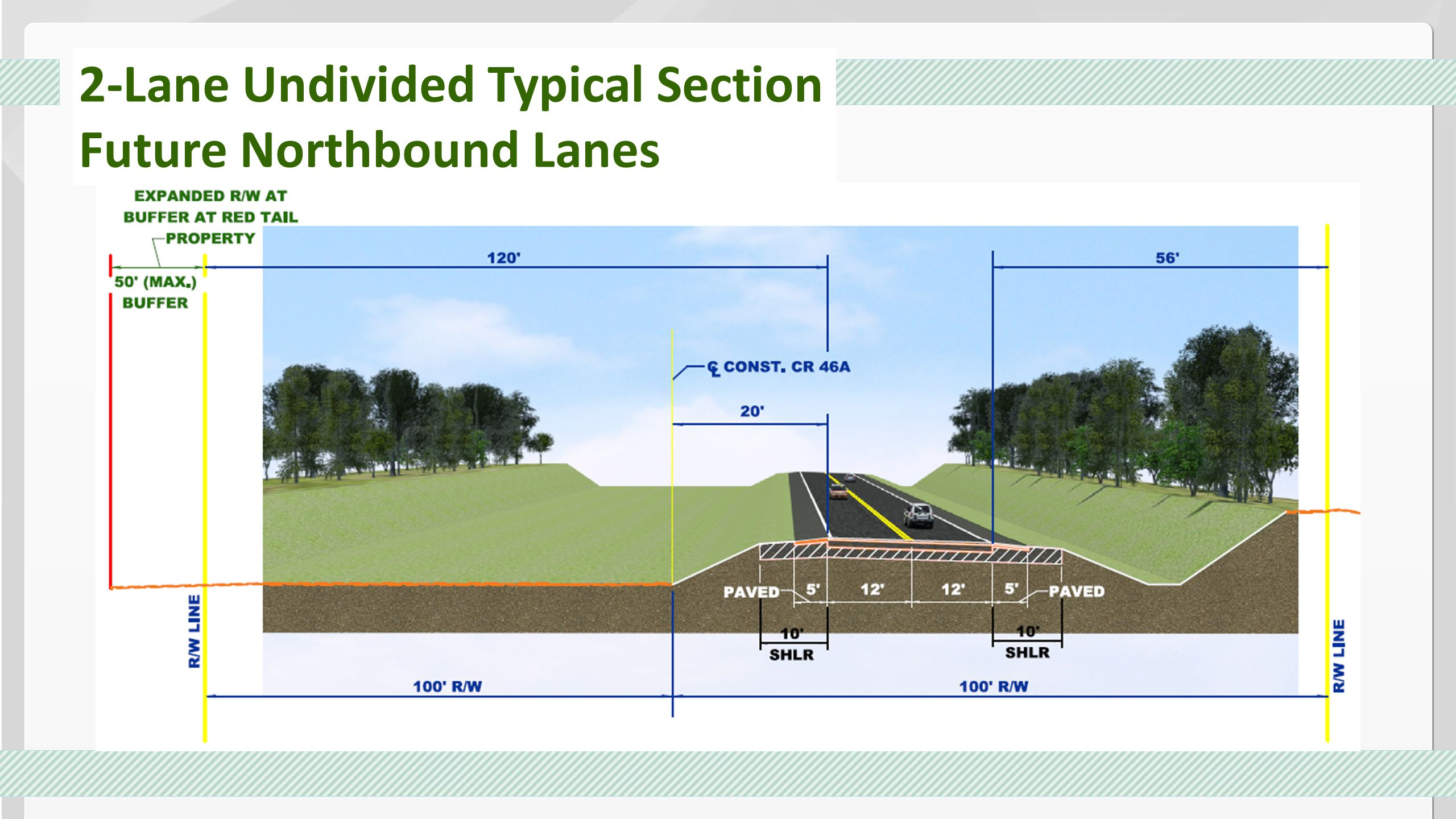 2-Lane Undivided Typical Section
