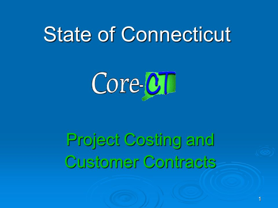 Project Costing and Customer Contracts