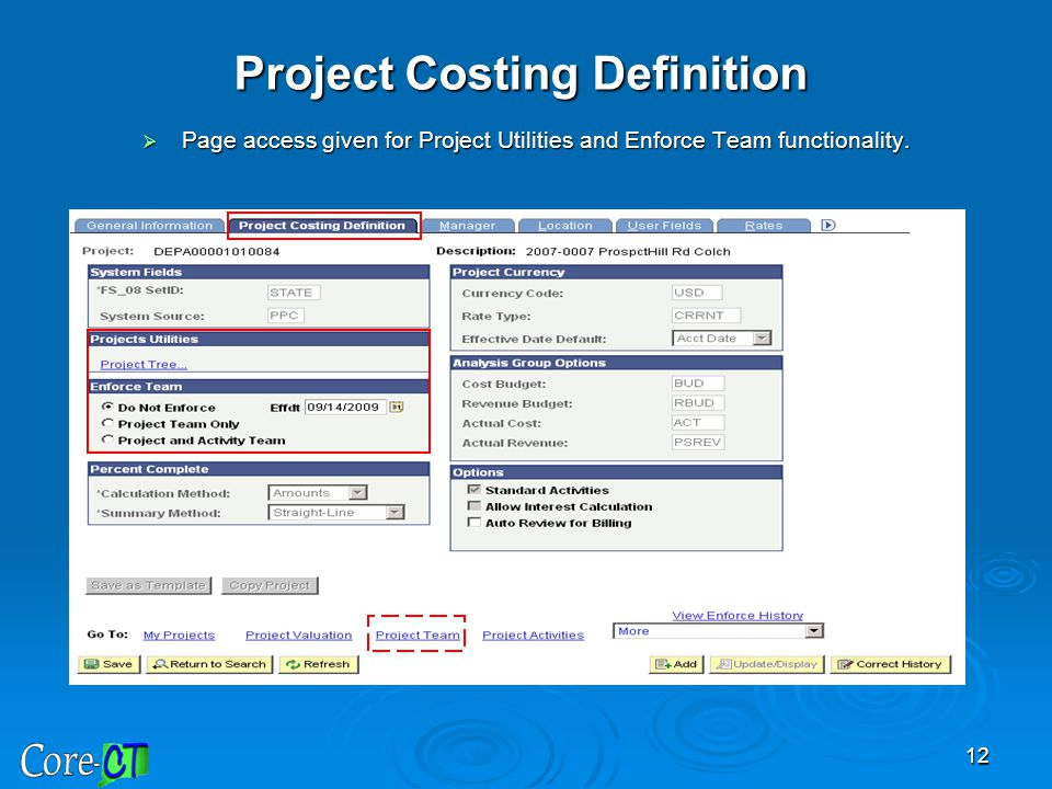 Project Costing Definition
