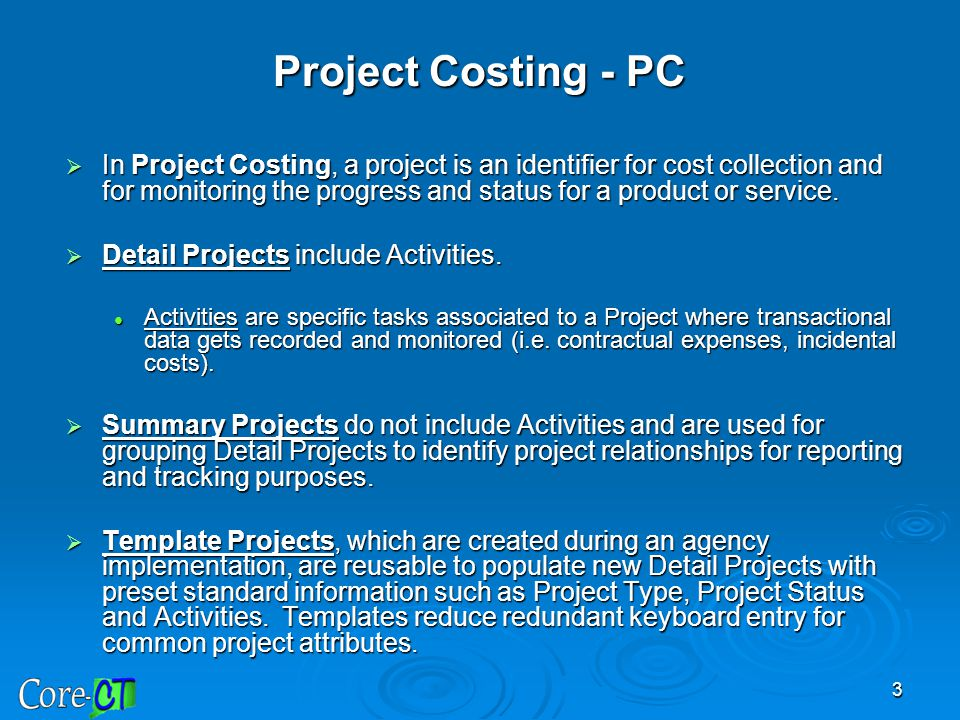 Project Costing - PC