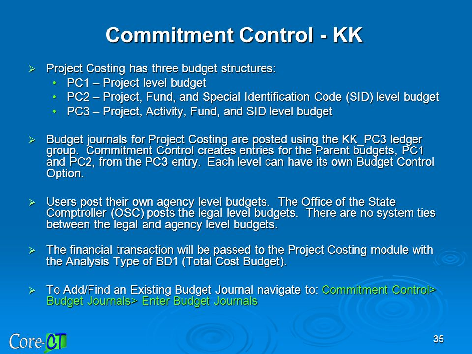 Commitment Control - KK